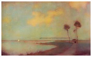 Waterlandschap, Jan Mankes