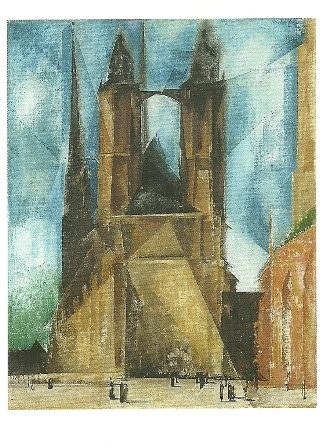 Kerk in avonduur, Lyonel Feininger