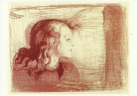 Het zieke kind I, Edvard Munch