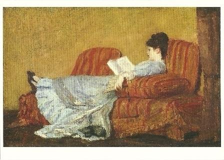 Lezende jonge vrouw, Mary Cassatt