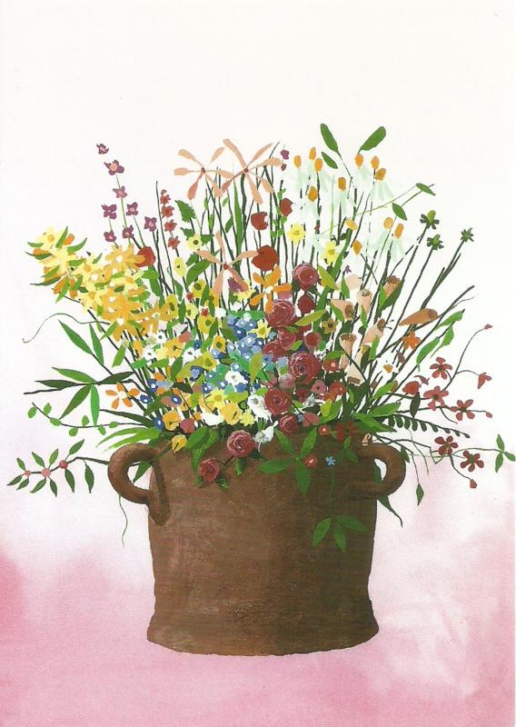 Pot met bloemen, Piotr Fafrowicz