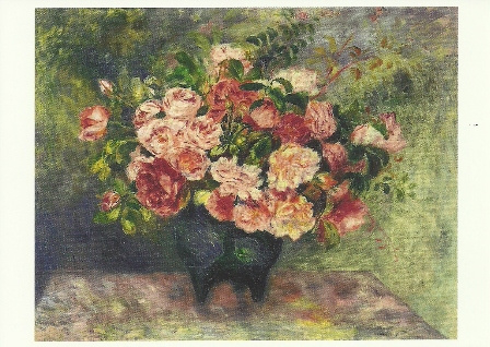 Rozen in vaas, Pierre-Auguste Renoir