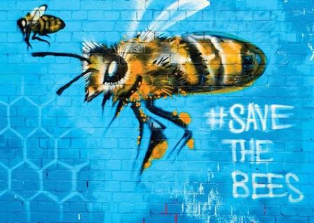 Save the bees, Graffiti