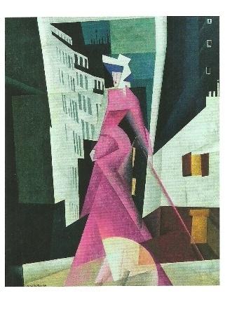 De dame in mauve, Lyonel Feininger