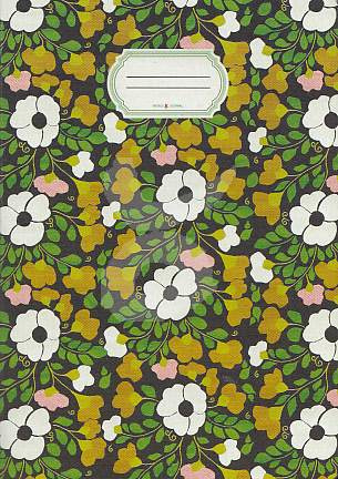 Schriftje Retro flower, Taurus journal
