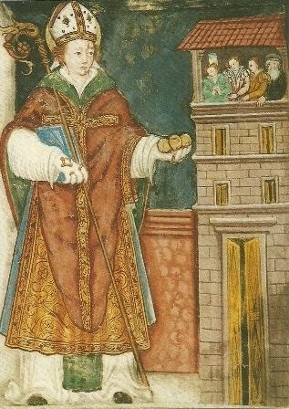 Nicolaas van Myra, wandschildering 16e eeuws