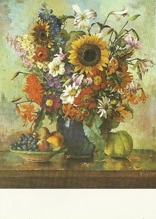 Herfstbloemen met vruchten, Otto Vaeltl