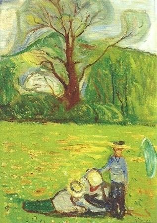 Voorjaarslandschap, Edvard Munch
