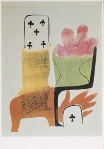 Compositie met speelkaarten, Hendrik Nicolaas Werkman