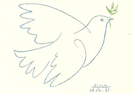 De Duif Zutphen.Blauwe Duif Pablo Picasso Picasso De Boekerij Zutphen