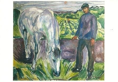 Man met paard, Edvard Munch