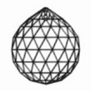 Kristal facetbol 30mm