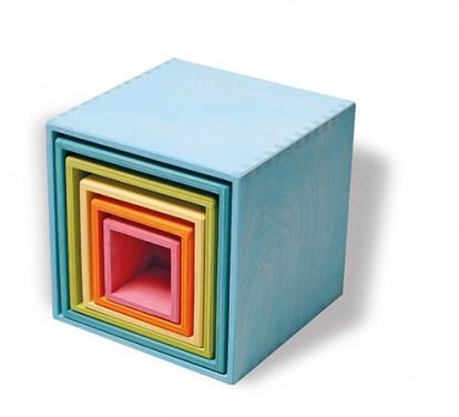 Grote kubus toren pastel