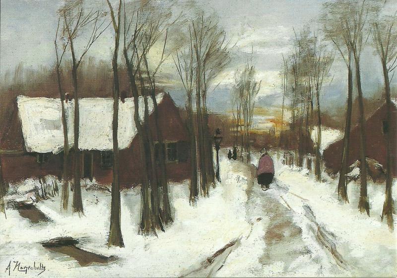 Sneeuw in Laren, Arina Hugenholz