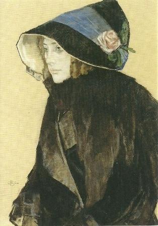 Portret van een jonge vrouw, Leo Gestel