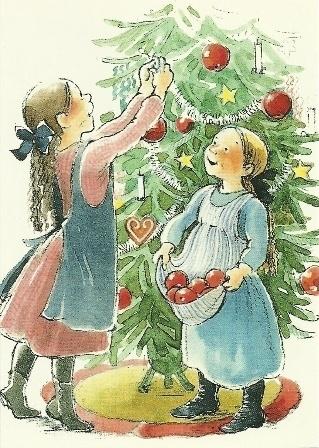 Kerstboom versieren, G. Hansson