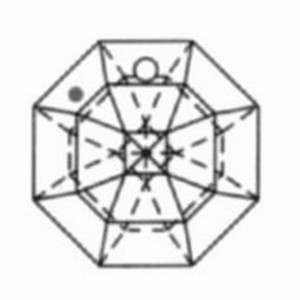 Kristal achthoek 20mm