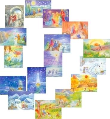 Mapje 16 jaargetijden kaarten Dorothea Schmidt