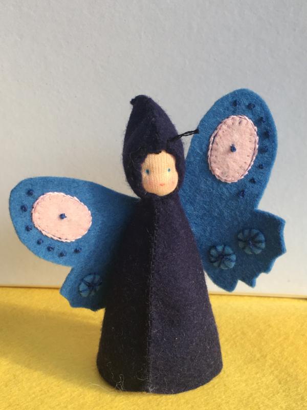 Vlinderpopje blauw