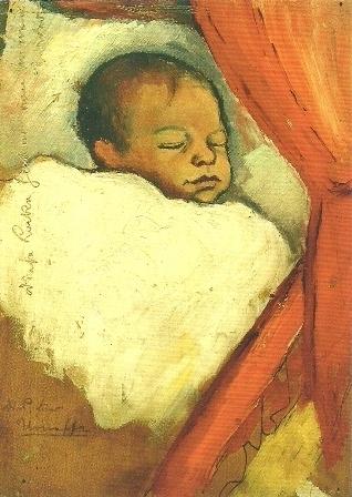 Walter, 3 dagen oud, August Macke