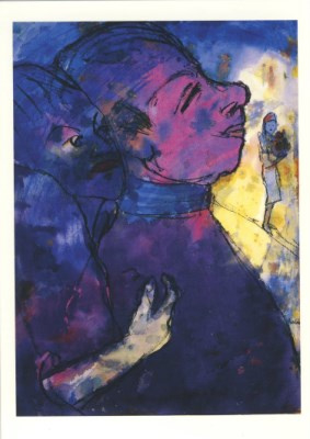 Blauwviolet paar, Emil Nolde
