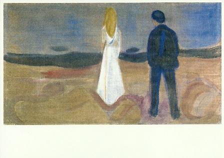 Twee mensen. De eenzamen, Edvard Munch