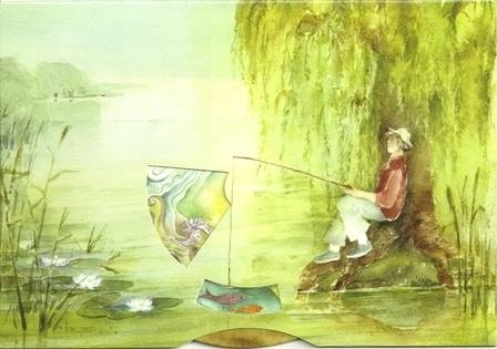 Vissen, watergeest, draaikaart Christiane Lesch