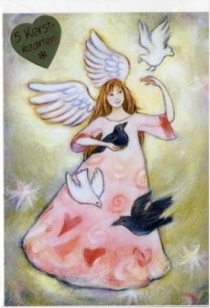 Vredesengel, Geertje van der Zijpp, 5 dubbele kaarten met envelop