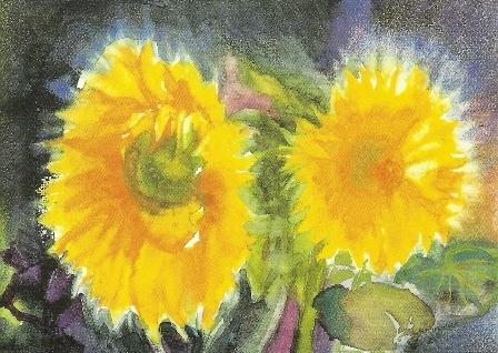 Zonnebloemen, Christine Thomas