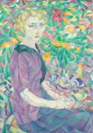 Vrouw tussen bloemen, Leo Gestel