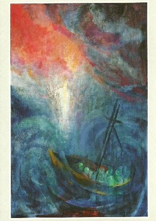 Christus wandelt op de zee, Ninetta Sombart