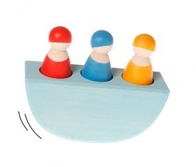 3 mannetjes in een boot