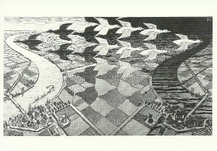 Dag en nacht, Escher