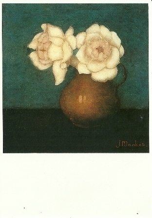 Rozen in een vaas, Jan Mankes