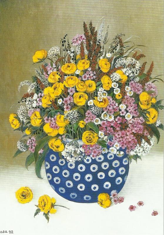 Bunzlauer aardewerken pot, Heide Dahl