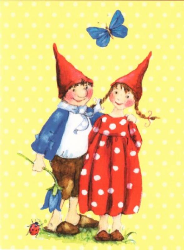 Pippa en Pelle met blauwe vlinder