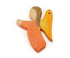 Engel hanger oranje