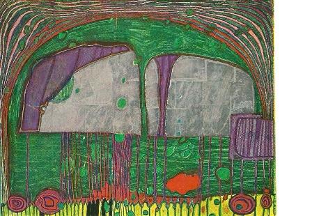 De blinde en huilende auto, Friedereich Hundertwasser