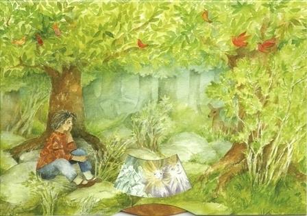 In het bos, aardgeesten, draaikaart Christiane Lesch