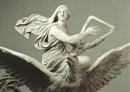 De muziek, op een adelaar omhoogvliegend, Ernst Rietschel