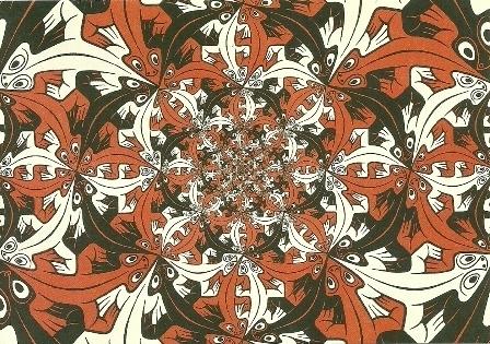 Kleiner en kleiner, Escher