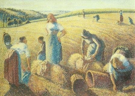De arenleessters, Camille Pissarro