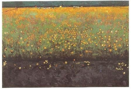 Bloeiend landschap, Jan Mankes