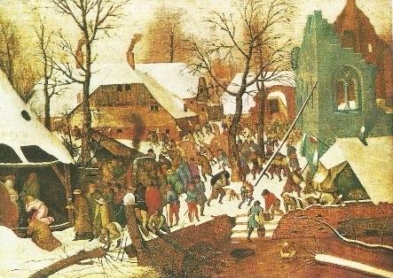 Aanbidding der Koningen in de sneeuw, Pieter Brueghel de oudere