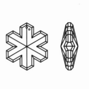 kristal sneeuwvlok 35mm