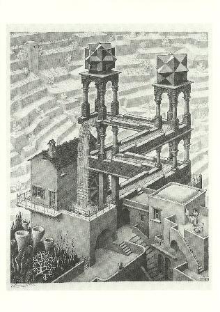 Waterval, M.C. Escher