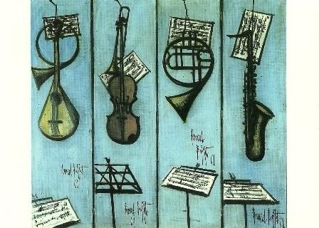 Muziek instrumenten, Bernard Buffet