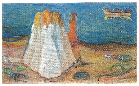 Meisjes aan zee, Edvard Munch