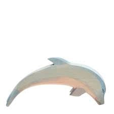Dolfijn met kop omlaag