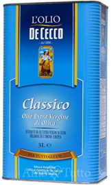 Olio EV, blik 3 liter, De Cecco